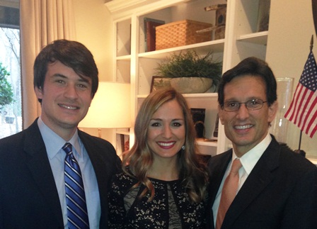 U.S. House Majority Leader Eric Cantor with Drs. Jason Henry Williams and Nilda Maria Witty.  Eric Cantor was the keynote speaker for the 2014 AMCLC, annual meeting and chapter leader's meeting of the American College of Radiology