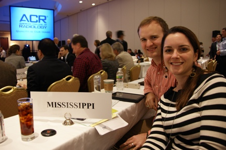 Radiology resident representatives (Drs. Christina Marks and Charles Upshaw III) at the 2013 Annual Chapter Meeting and Leadership Conference in Washington, DC.